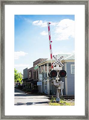 Framed Print featuring the photograph Crossings In Old Town Helena by Parker Cunningham