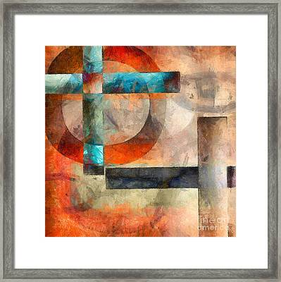 Crossroads Abstract Framed Print by Edward Fielding