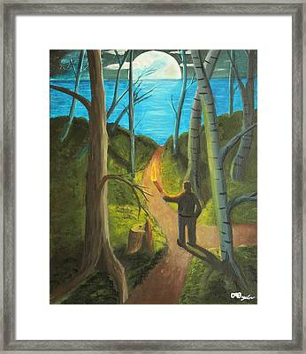 Crossroads Framed Print by David Bigelow