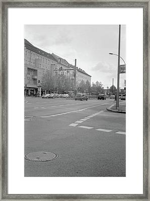 Crossroads In Prenzlauer Berg Framed Print