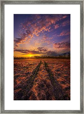 Crossroads Framed Print by Phil Koch