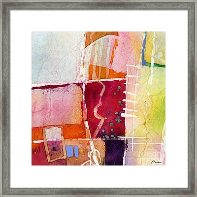Crossroads - Red Framed Print
