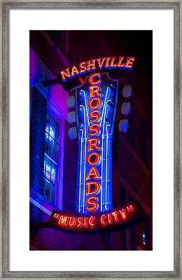 Music City Crossroads Framed Print