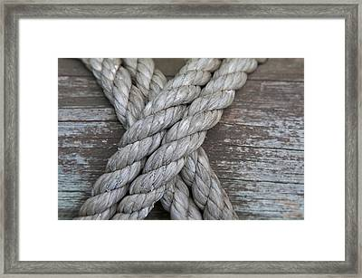 Crossropes Framed Print