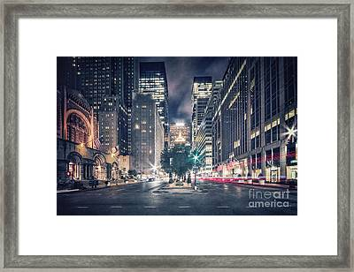Crosstown Framed Print by Evelina Kremsdorf