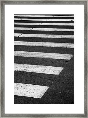 Crosswalk Framed Print by Gabriela Insuratelu