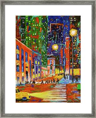 Crosswalk Framed Print by J Loren Reedy