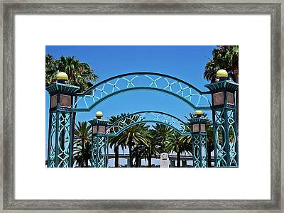 Crosswalk Of Valor Framed Print by DigiArt Diaries by Vicky B Fuller