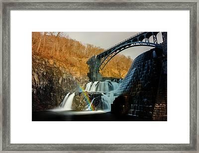 Croton Dam Rainbow Spray Framed Print