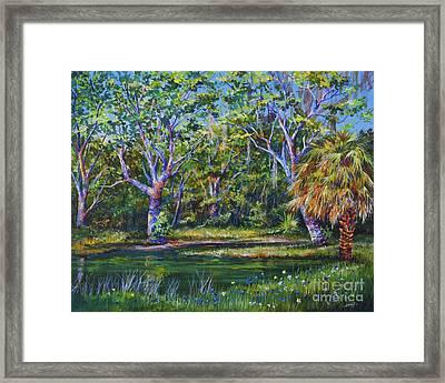 Croton Pond Framed Print