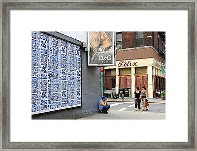 Framed Print featuring the photograph Crouching Man by JoAnn Lense