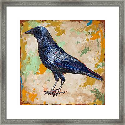 Crow #1 Framed Print by David Palmer