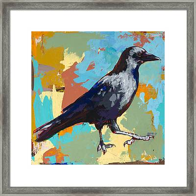 Crow #2 Framed Print by David Palmer
