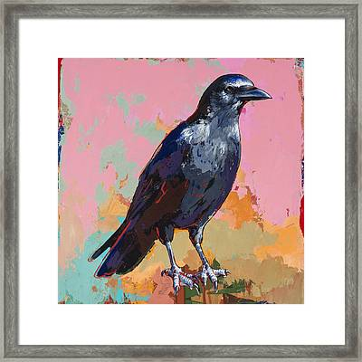 Crow #3 Framed Print by David Palmer