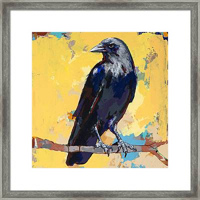 Crow #4 Framed Print by David Palmer