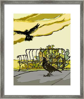Crow Calling Framed Print by Peggy Wilson