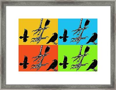 Crow Feet Four Framed Print by Diana Ludwig