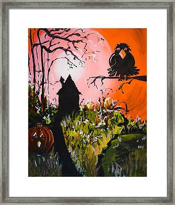 Crow In The Tree Framed Print