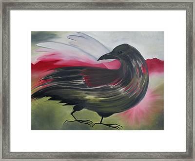 Crow Framed Print by Karen MacKenzie