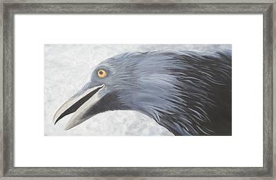 Crow Magic Framed Print