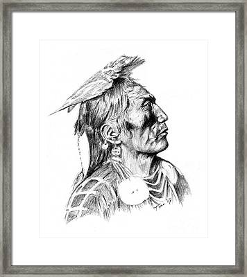 Crow Medicine Man Framed Print