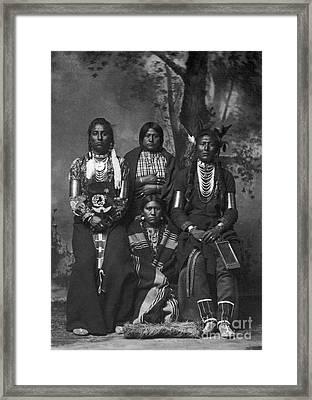 Crow Native Americans, 1883 Framed Print