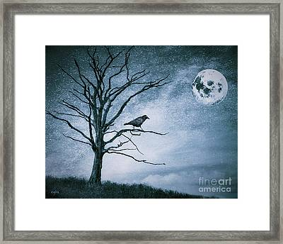 Crow On A Branch Framed Print