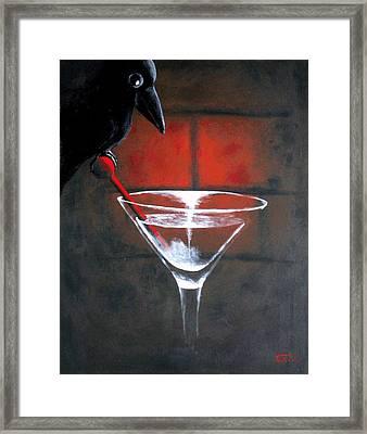 Crow Framed Print by Poul Costinsky
