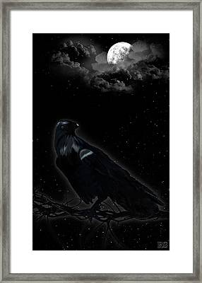 Crow Framed Print by Renata S