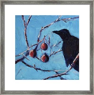 Crow Framed Print by Wendie Thompson