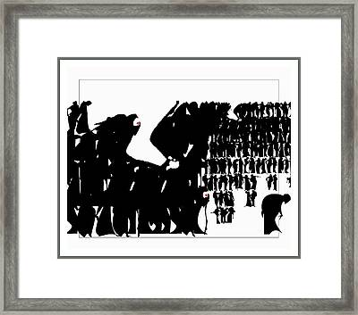 Crowd Framed Print by Olena Kulyk