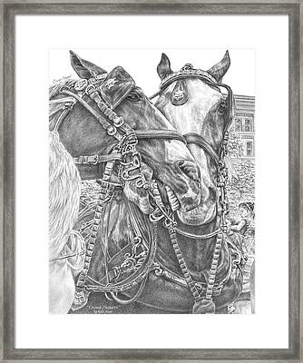 Crowd Pleasers - Clydesdale Draft Horse Art Print Framed Print
