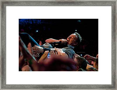 Crowd Surfing Framed Print