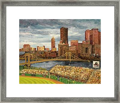 Crowded At Pnc Park Framed Print