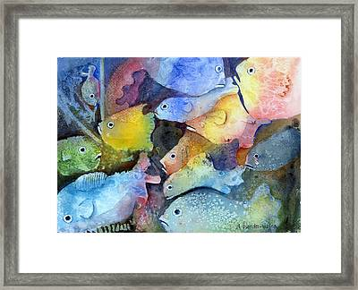 Crowded Space Framed Print by Arline Wagner