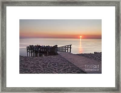 Crowds At Sunset At Sleeping Bear Dunes Framed Print