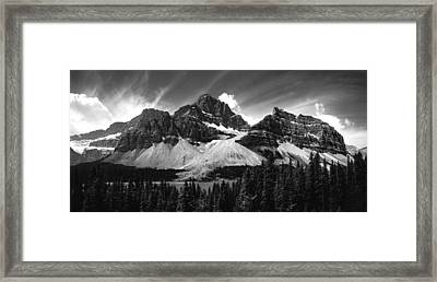 Crowfoot Mountain And Bow Lake Framed Print