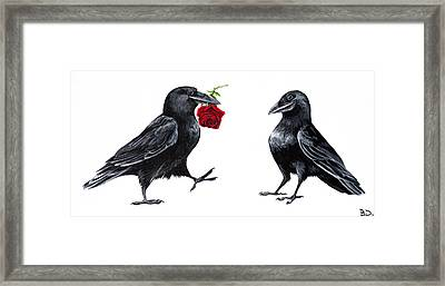 Crowmance Framed Print