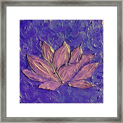 Crown Chakra Art Purple Lotus Flower Framed Print