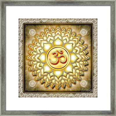 Crown Chakra Golden - Series 1 Framed Print