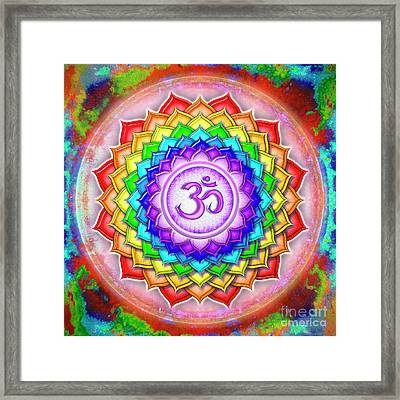 Crown Chakra - Rainbow Lotus Series 5  Framed Print