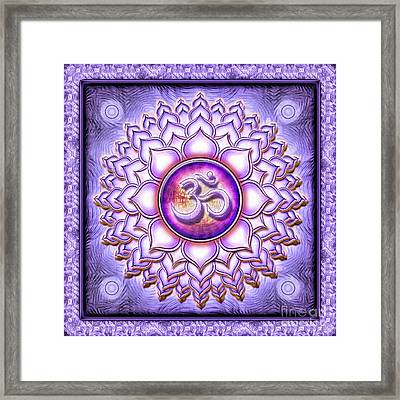 Crown Chakra - Series 1 Framed Print