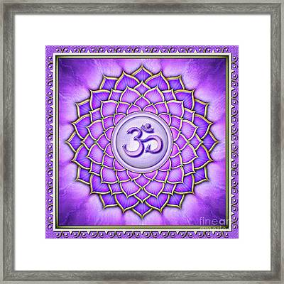 Crown Chakra - Series 2 Artwork 2 Framed Print