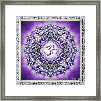 Crown Chakra - Series 2 Framed Print