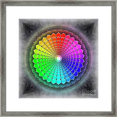 Crown Chakra - Series 4 Framed Print