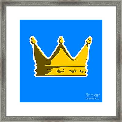 Crown Graphic Design Framed Print