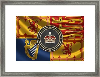 Crown Of Scotland Over Royal Standard  Framed Print