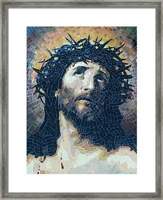 Crown Of Thorns 2 - Ceramic Mosaic Wall Art Framed Print