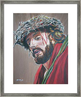 Framed Print featuring the painting Crown Of Thorns by Bryan Bustard