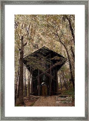 Crown Of Thorns Chapel Framed Print by Kathleen Struckle